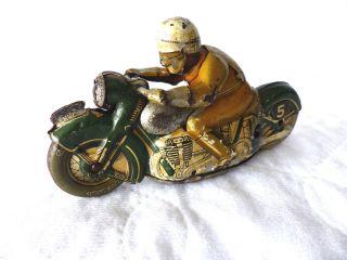 Schuco Sport 1012 Blech Motorrad Vorkrieg Version - Tinplate - Pre War Bild
