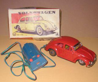 Altes Fernlenk - Blechspielzeug Asahi - Sanshine Volkswagen 4g - 113 Mit Ovp - Japan Bild