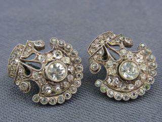Schöne Alte Ohrclips Silber 935/ - Ca.  30er Jahre Similisteine Bild