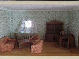 Wohnzimmer   Einrichtung 8tlg. Holz 80iger Jahre Bodo Hennig Für  Puppenstube Bild