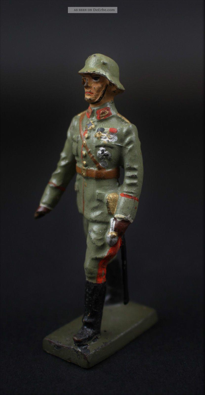 Massefigur General Mit Pour Le Mérite Lineol Elastolin & Lineol Bild