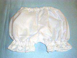 Puppen Unterhose Antik Stil,  Seitl.  Beinlg,  19cm Vordere Weite 30 Cm Pumphose Bild