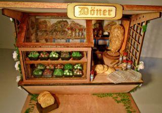 Marktstand Döner,  Dönerstand Fürs Puppenhaus 1:12 Bild