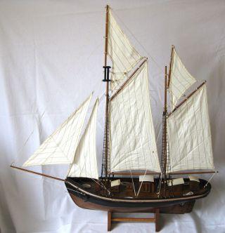 Schiffsmodell Segler 2 - Master Antik - Stil 80cm Holz Und Canvas Segelschiff Bild