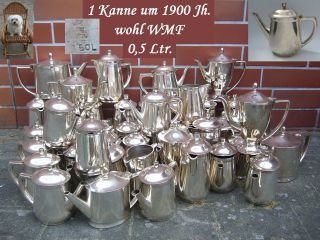1 Tee Kanne Kaffeekanne 500 Ml.  Hotelsilber 600 G Versilbert Wmf ? Jugendstil Bild