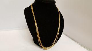 Damen GÜrtel&designer Collier 925 Italy Gv Vergoldet Silberkette Antik 2,  5 M Xx Bild