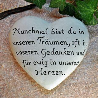 Manchmal Bist Du… Herz Mit Inschrift 16,  5x15 Cm Grabschmuck Grabstein Grab Bild