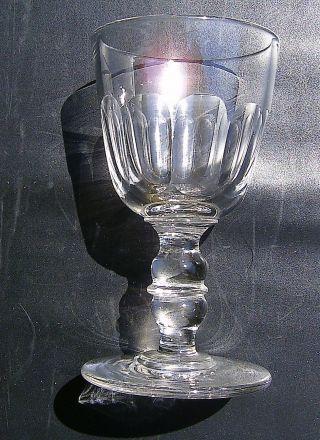 Spätbiedermeier Altes Weinglas Likörglas Umlaufend Facettenschliff 1/20 Liter Bild