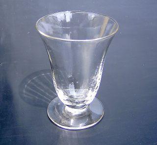 Spätbiedermeier Französisches Weinglas Kleines Mostglas Mit Kurzem Fuß Bild
