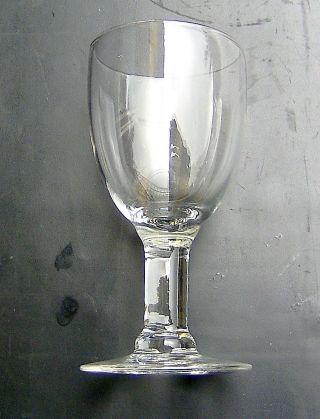 Spätbiedermeier Kleines Weinglas Mundgeblasenes Kelchglas 1/12 Liter Bild