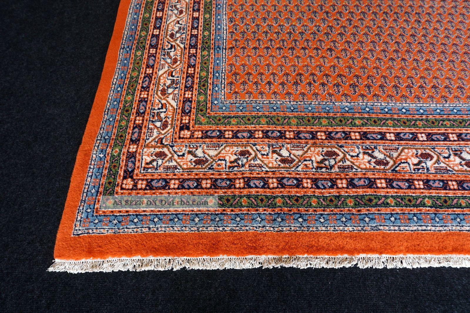 orient teppich indo mir 300 x 200 cm rotrost handgekn pft red carpet rug tappeto. Black Bedroom Furniture Sets. Home Design Ideas