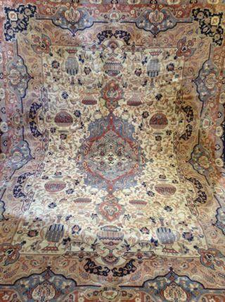 Teppich - Webteppich - Kaschmar - Vasen - Persianer Optik Nain - 240 Cm X 170 Cm Bild
