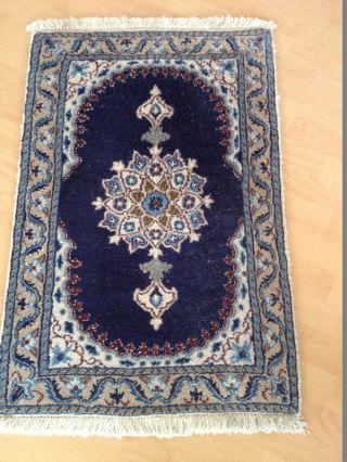Echter Nain Orientteppich Persianer Handgeknüpft 89 X 58 Cm Aus Iran Bild