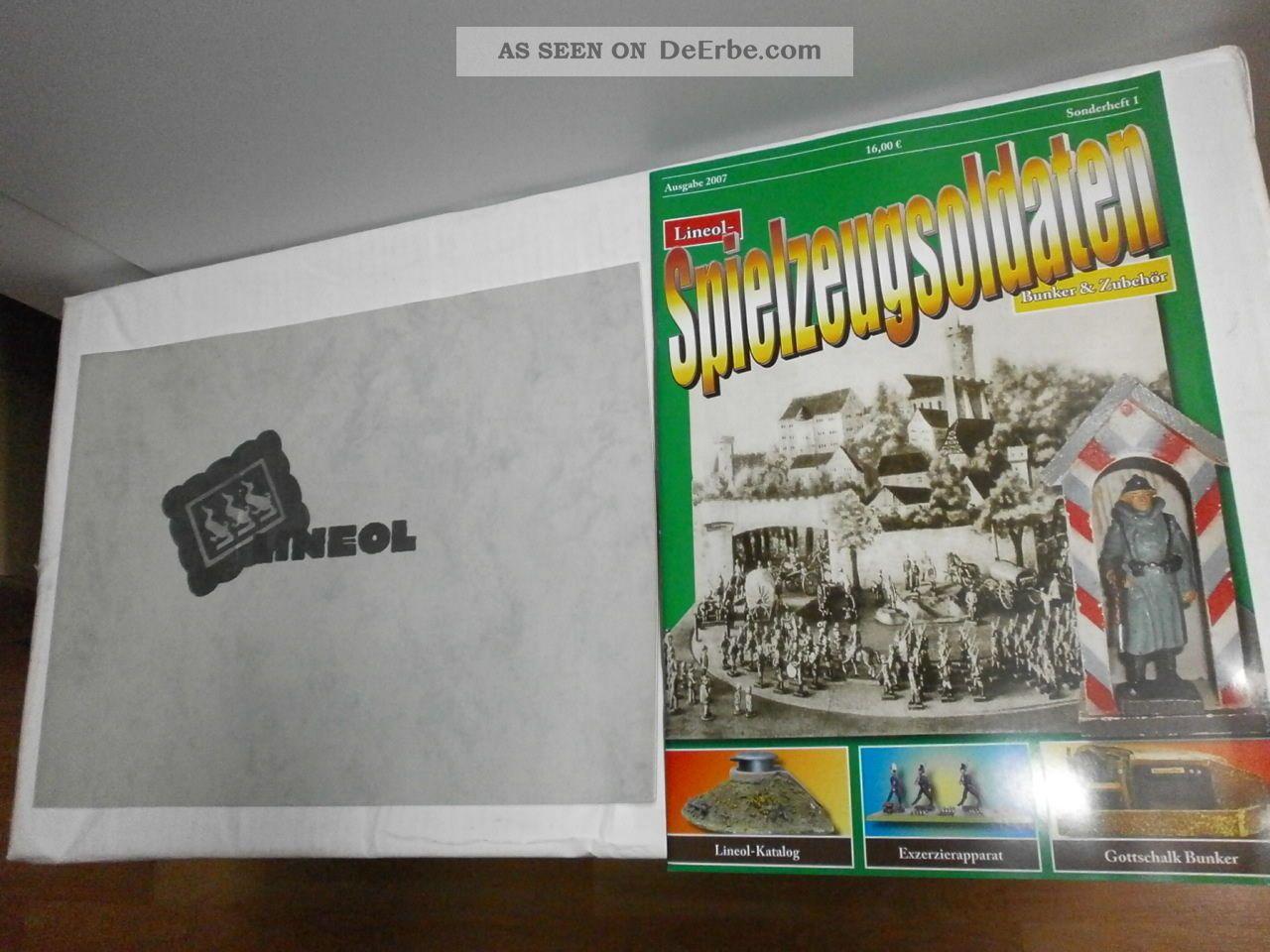 Sonderheft Spielzeugsoldaten Bunker & Zubehör Elastolin Kienel,  Lineol Katalog Gefertigt vor 1945 Bild
