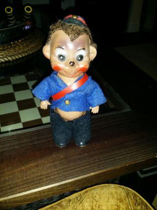 Antiquität: Mecki Puppe Aus Zelluloid 50er Jahre / In Uniform Bild