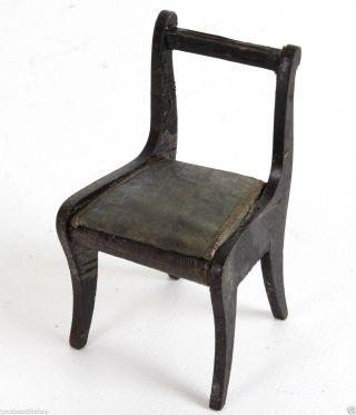 Stuhl Für Die Puppenstube 8 Cm Biedermeier Um 1850 A5 Bild