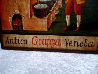Tolles Holzbild - Antica Grappa Veneta - Sig.  F.  Conz - Wunderschöne Deko - Top Bild
