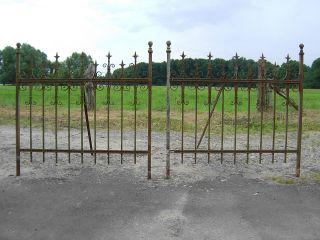 Alter Zaun Antik Schmiedeeisen Pforte Rankgitter Tor 2x1.  32m Bild