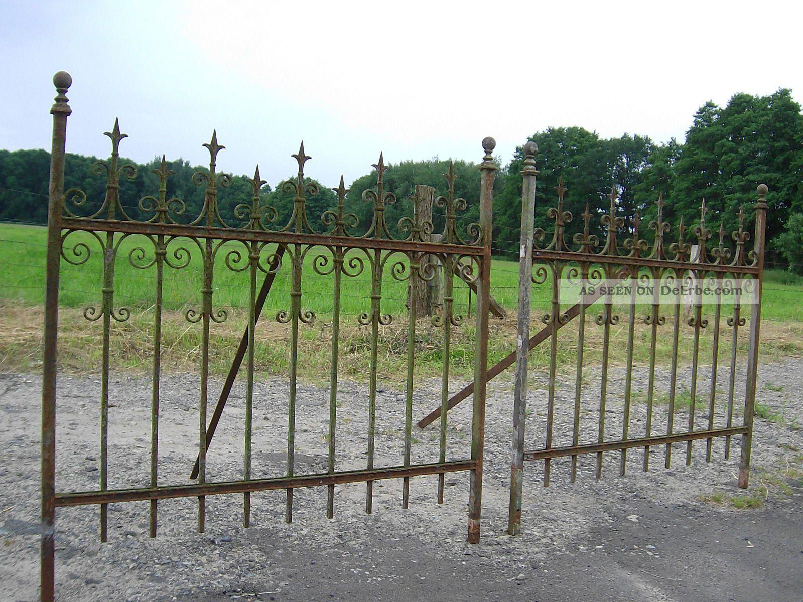 Alter Zaun Antik Schmiedeeisen Pforte Rankgitter Tor 2x1 32m