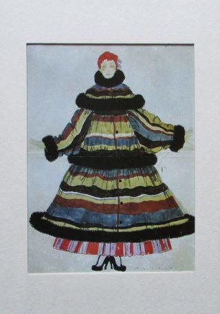 Max Snischek Entwurf FÜr Einen Mantel Im Passepartout 1914 Modezeichnung Wien Bild