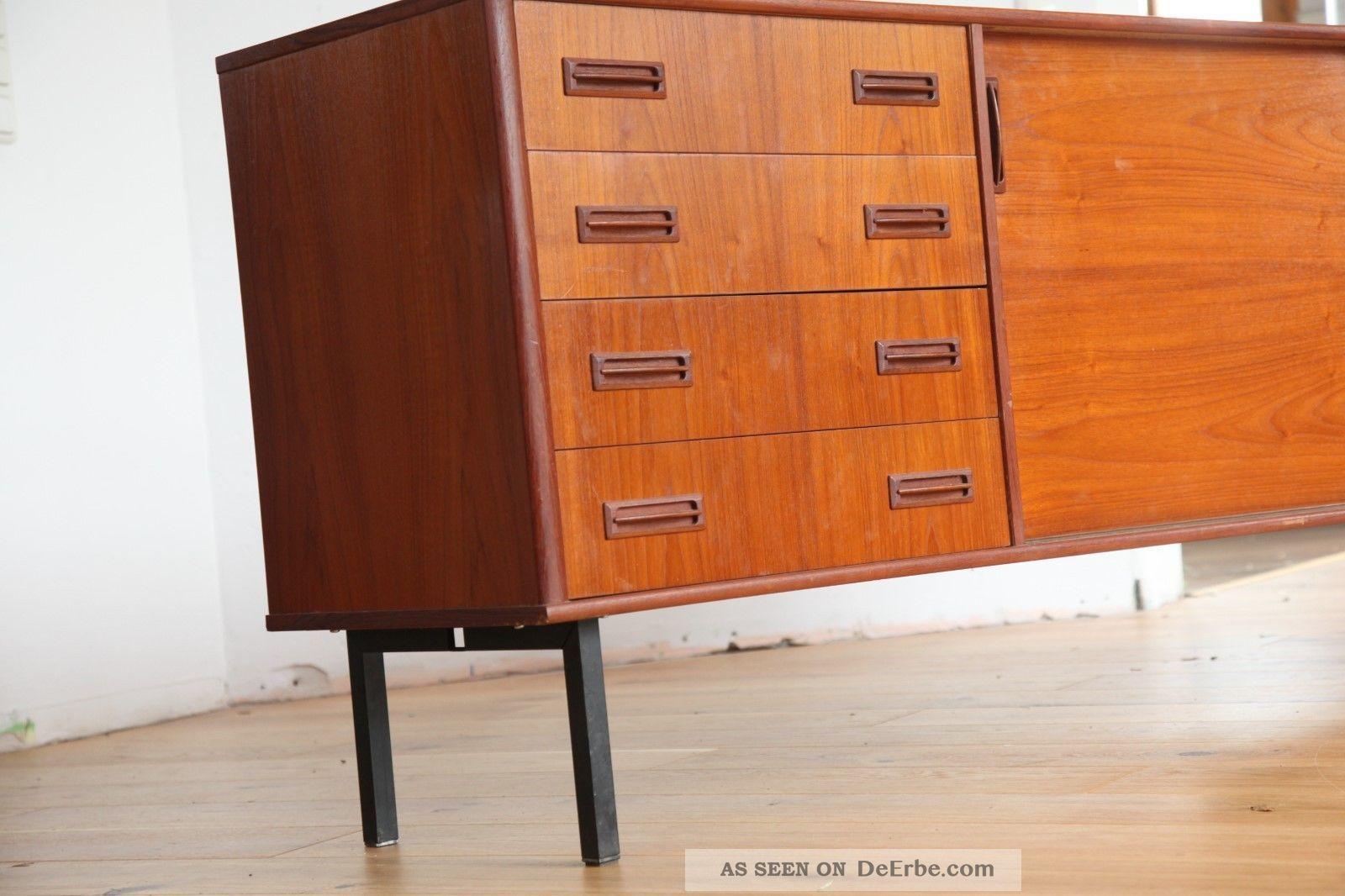 60er 50er danish modern sideboard credenza teak vodder wegner ra. Black Bedroom Furniture Sets. Home Design Ideas