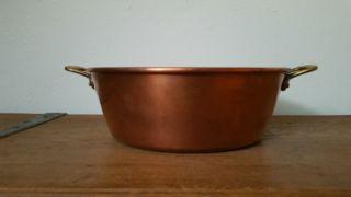 Kupfer Schüssel Marmeladenschüssel Patisserie Aus France (nr.  3) Bild