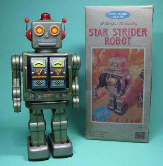 Star Strider Robot Roboter Green Made By Sh Horikawa Japan Bild