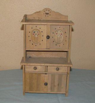 Alter Schrank Küchenschrank Für Puppenstube Puppenhaus Puppenküche Bild