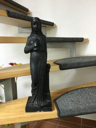 Heilige Barbara Antik Schwere Figur 6 Kg Vollguss Zinn Bild
