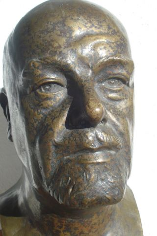 Bronze Bueste Albert Boehringer Plastik Skulptur Josef Hinterseher Bild