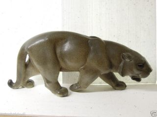 Wunderschöner Grosser Alter Ton/keramik Panther Sign.  Wolfgang Sessous Bild