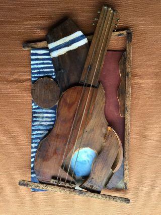 Pablo Picasso - Skulptur,  Holz Von 20 Jahren - Gitarre Zerlegt Bild