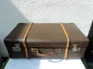 Alter Koffer Reisekoffer Adastra Holzleisten Ideal Für Oldtimer/motorrad Bild