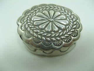 Pillendose - 925 Sterling Silber - Um 1910 - Gewicht Ca.  21,  2 Gramm (s18) Bild