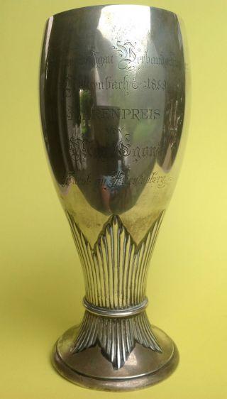 Schützen - Pokal Silber 800 Schwarzwald Verbandschiessen Vöhrenbach 1899 W.  Binder Bild