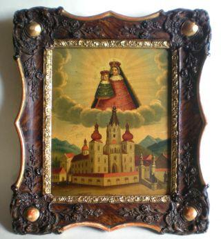 Hervorragendes Ölbild Auf Blech : Mariazell Basilika Maria Und Jesuskind Bild