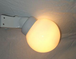 Art Deco Bauhaus - Stil Wandlampe Ecklampe Opalglas Design Wagenfeld Bild