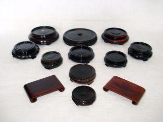 12 X Untersetzer / Holzständer / Holzsockeln Für Vasen,  China Bild