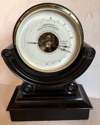 Antikes Holosteric Barometer Wilh.  Lambrecht - Göttingen Um 1890 Bild