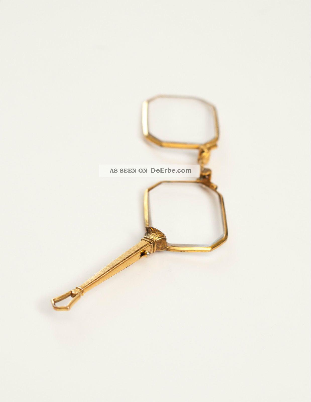 Klappbrille Lorgnon Lorgnette,  Alte Brille,  Rar & Antik Springlorgnette Accessoires Bild