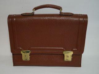 Alte Braune Aktentasche Ledertasche Schulranzen Schultasche Tasche Büro Leder Bild