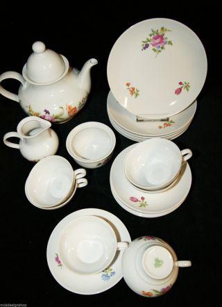 Graf Von Henneberg 1777 Porzellan 21 Tlg Teeservice Geschirr Zur Ergänzung Bild