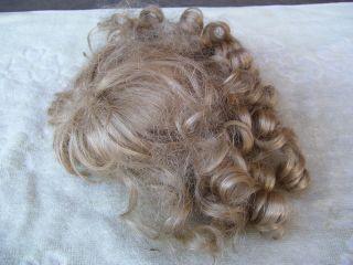 Alte Puppenteile Hellblonde Locken Haar Perücke Vintage Doll Hair Wig 45 Cm Girl Bild