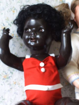 Negerpuppe Ca 60 Cm Antike Farbige Puppe Kwg Keramische Werke GrÄfenhain Bild