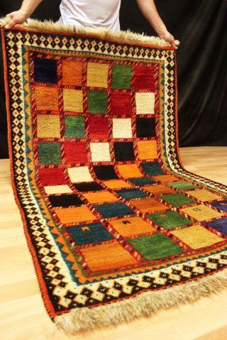Exklusiver Felder Gabbeh - Gabeh Orient Teppich 185x111cmcarpet Carpet 5079 Bild