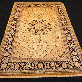 Orient Teppich Seide 160 X 104 Cm Seidenteppich Perserteppich Silk Carpet Rug Bild
