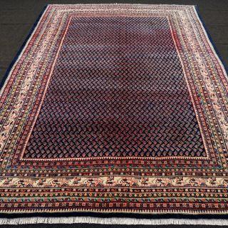 Orient Teppich Dunkelblau 310 X 230 Cm Perserteppich Mir Blue Carpet Rug Tappeto Bild