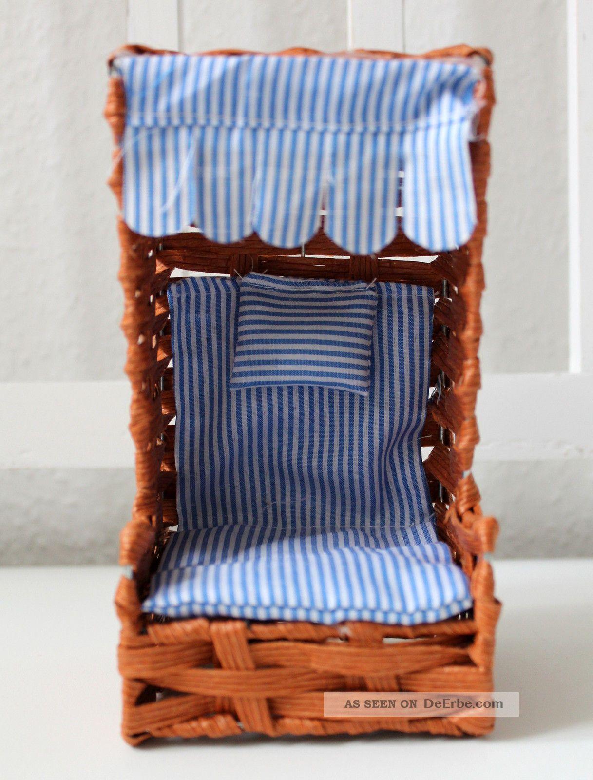 mini deko strandkorb 17cm braun draht und bast puppenstuhl. Black Bedroom Furniture Sets. Home Design Ideas