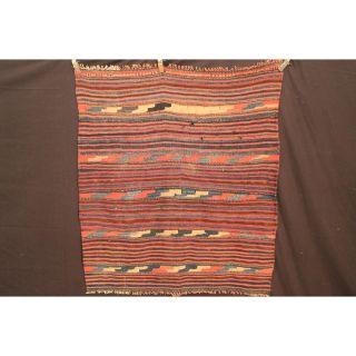 Antik Fein Handgeknüpfter Sammler Teppich Udssr Kelim Old Rug Carpet 150x140cm Bild