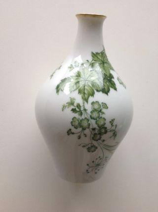 Schön Bemalte,  Alte,  Speziell Geformte Porzellanvase Der Firma Hutschenreuther M Bild